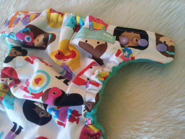 Super girl diaper