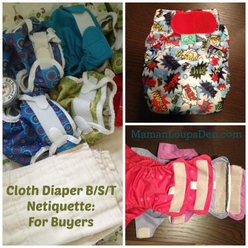 Cloth Diaper B/S/T Netiquette: For Buyers