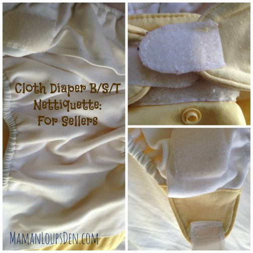 Cloth Diaper B/S/T Netiquette: For Sellers
