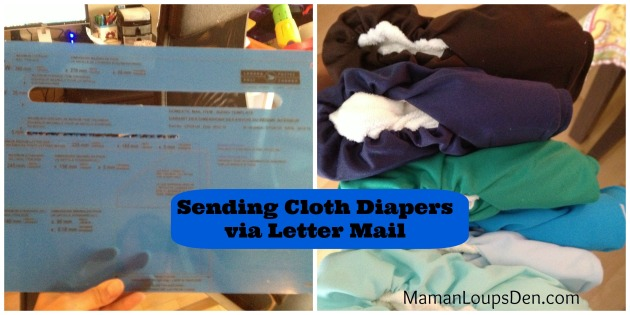 How to send cloth diapers via letter mail (in Canada)