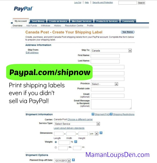 How to ship using PayPal Shipping