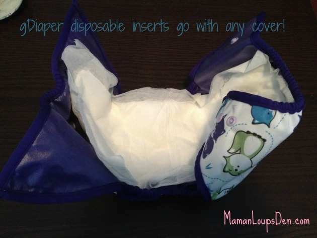 gDiaper inserts go with any cover!