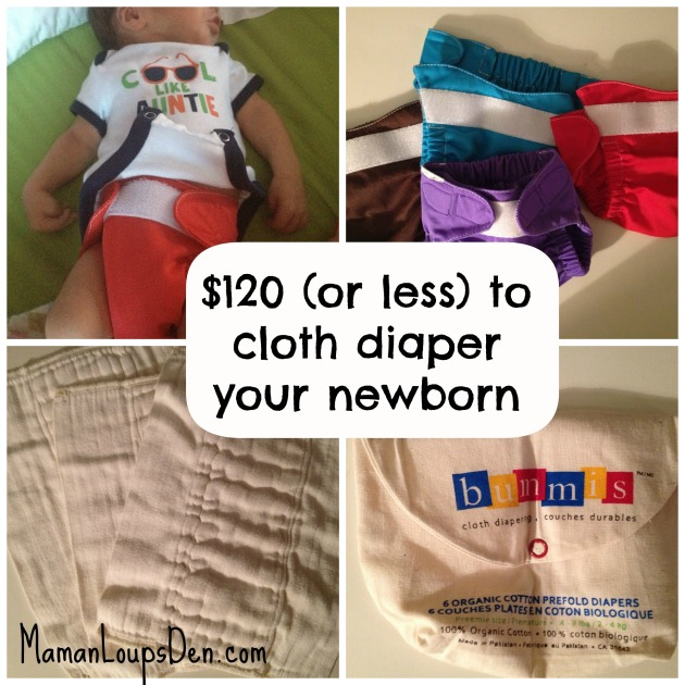 How to cloth diaper your newborn on the cheap