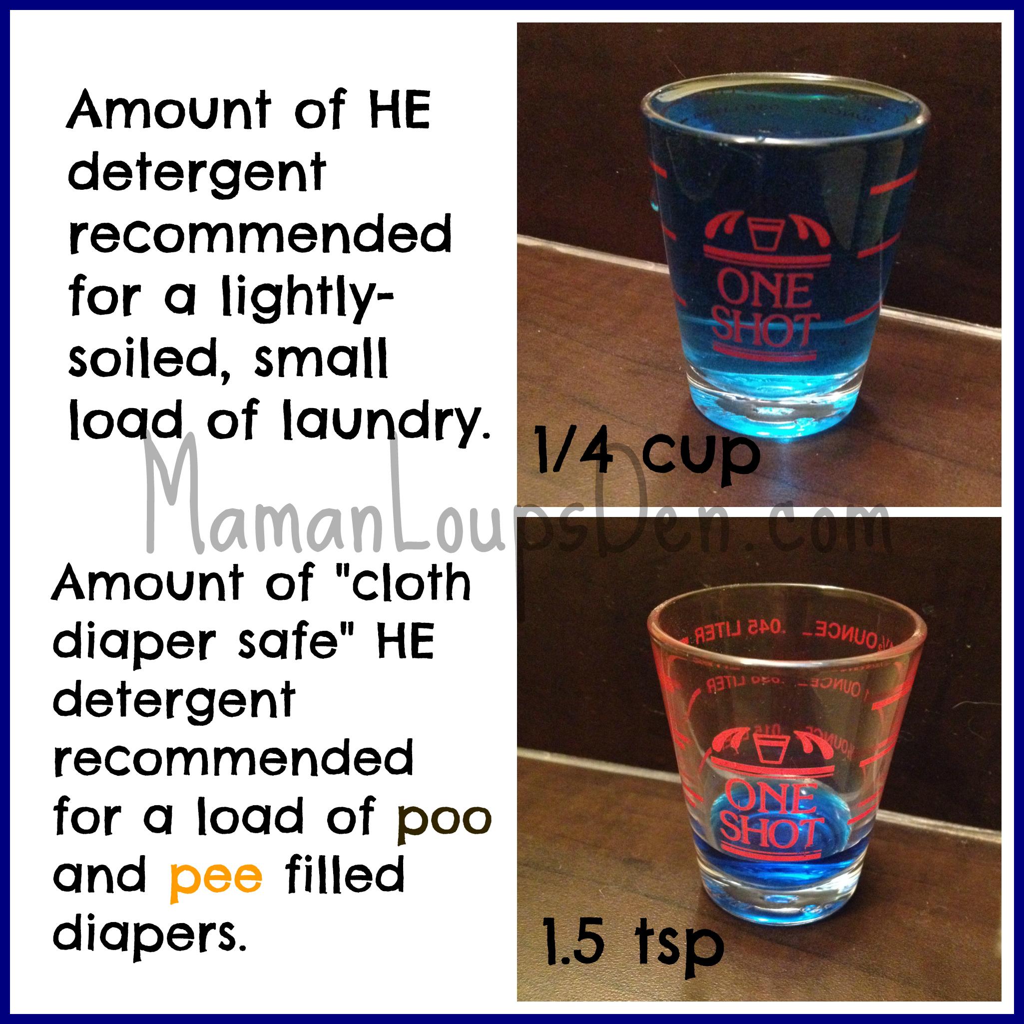 Detergent quantity comparison