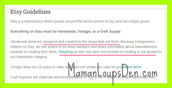 etsy guidelines