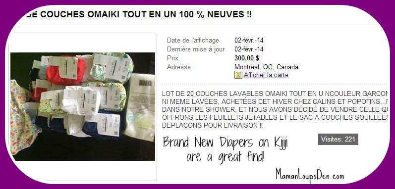 Save on diapers with Kijiji