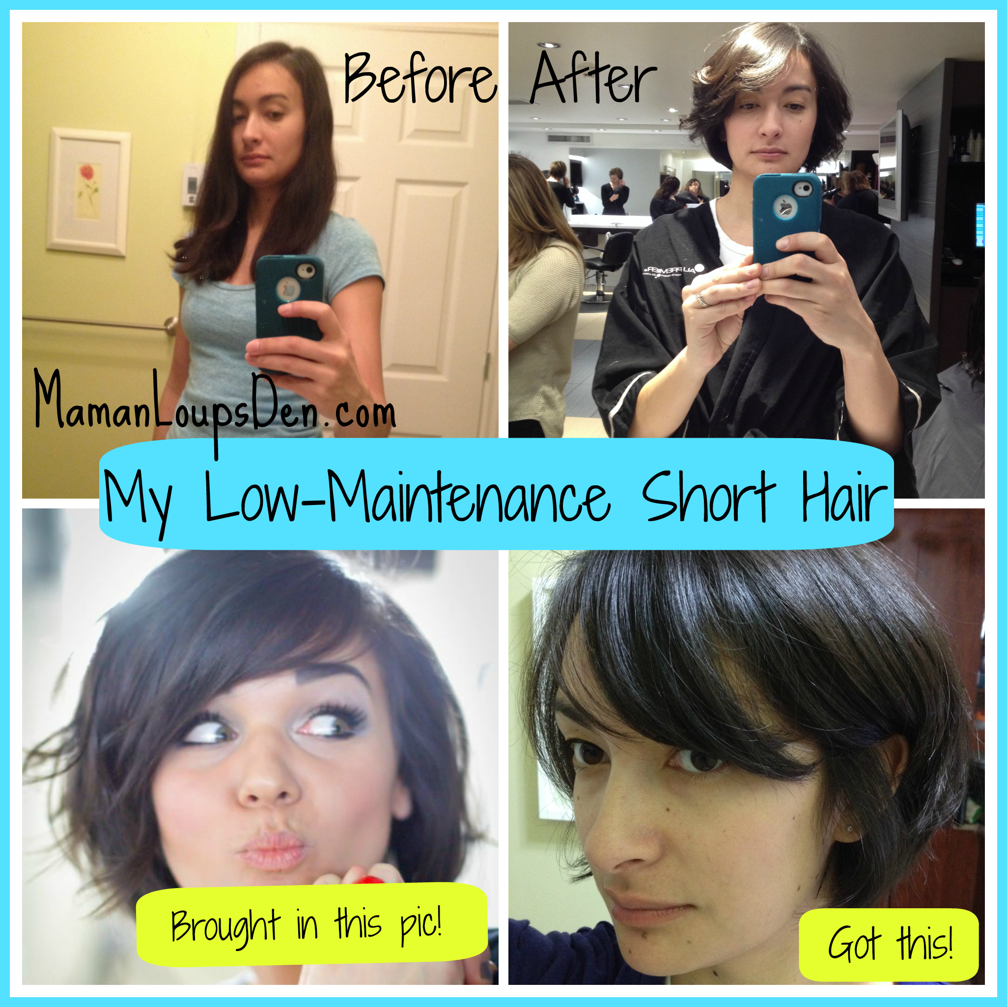 Low maintenance short hair cut for Mamas!