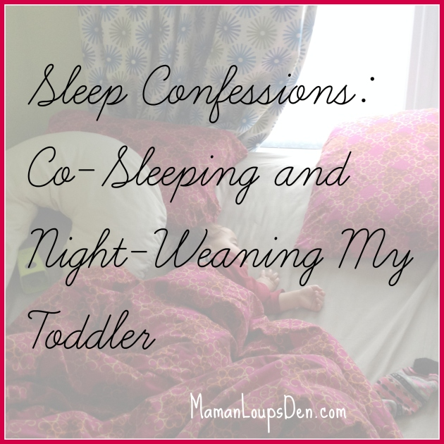 Co-sleeping & night-weaning my toddler