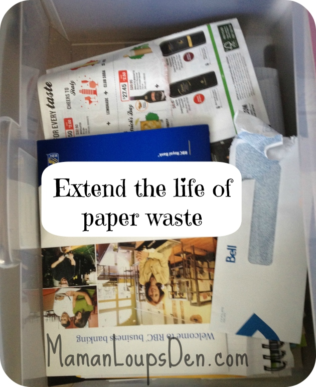 extend life of paper waste