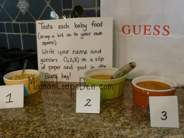 baby food game Baby shower
